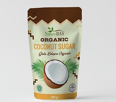 oem coconut sugar printed pouch