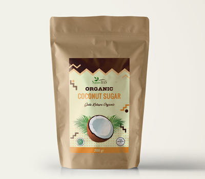 private lebel coconut sugar pouch